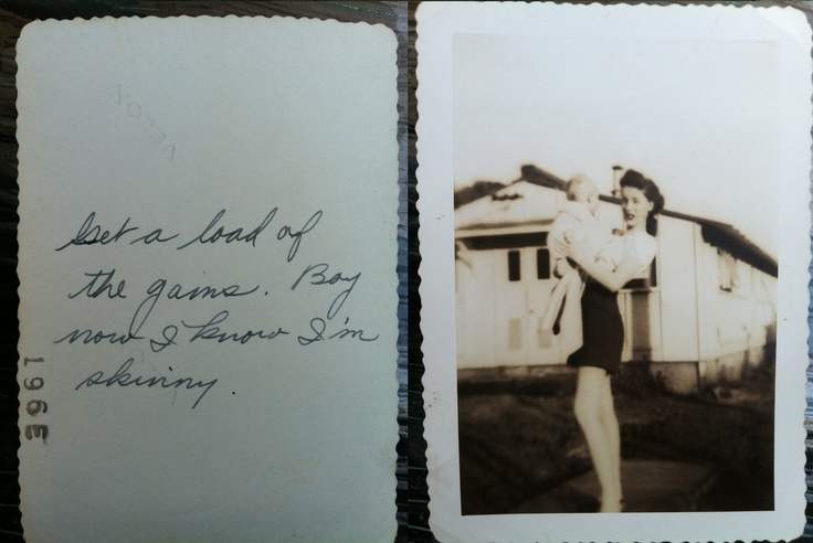An Appendix editor's family member at some point in the 40s, with her notation on the photo.