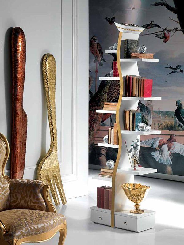 bucherregal design carpanelli wohnung highlight   boodeco.findby.co