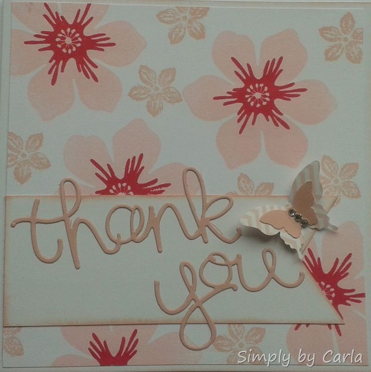 Thank You Card using SU thinlits
