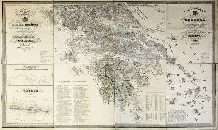 Χάρτης τοῦ Βασιλείου τῆς Ἑλλάδος, 1833 ALDENHOVEN, Ferdinand