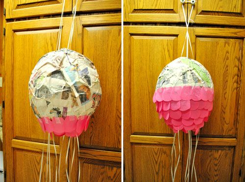 How to make a pull string pinata.  I may or may not be feeling THIS motivated.