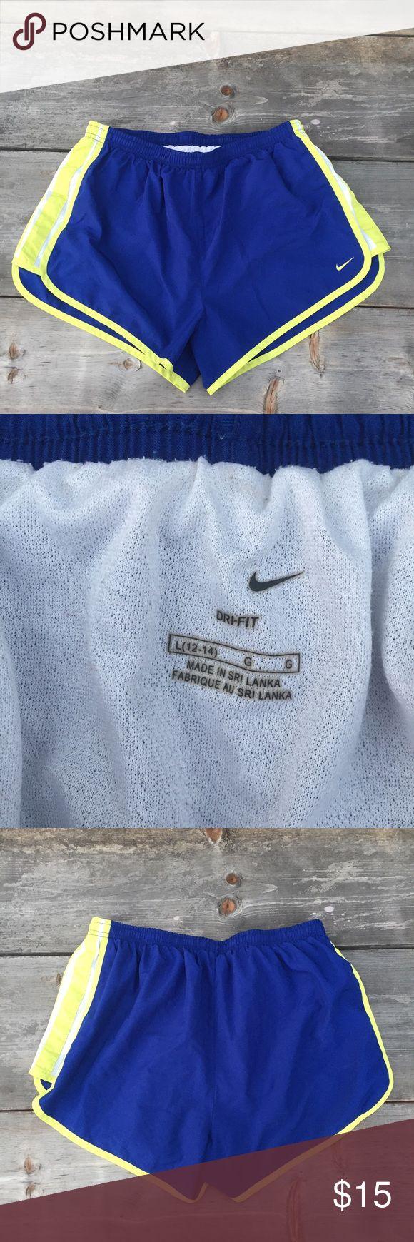"NIKE RUNNING SHORTS SZ L BLUE DRI FIT NIKE RUNNING SHORTS SZ L BLUE DRI FIT- WAIST 14.5"" LINED Nike Shorts https://twitter.com/gmsingin1/status/915364876633042945"
