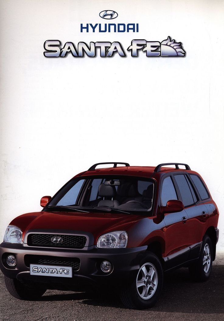 https://flic.kr/p/FutAnY | Hyundai Santa Fe; 2001_1 | front cover car brochure by worldtravellib World Travel library