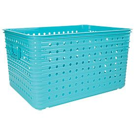 Large Dot Baskets @ Big Lots for big book storage