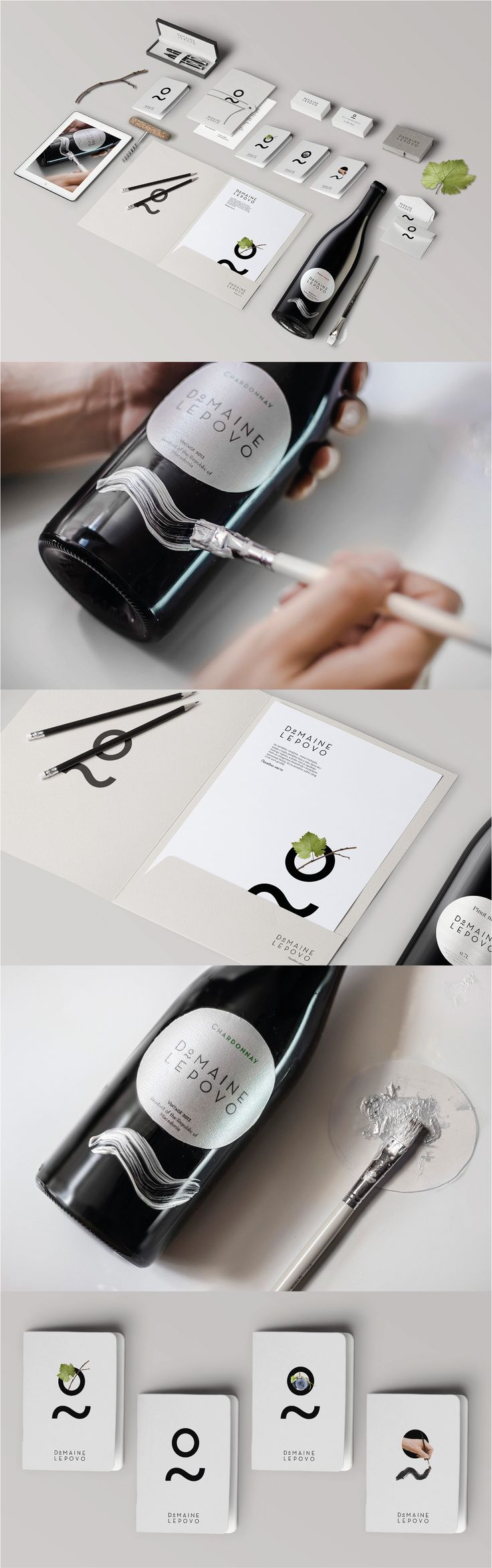Domaine Lepovo. A wine company where perfection isn't quite good enough. #Branding #Packaging #Identity #Design