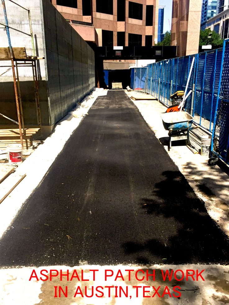 Asphalt Patch repair work done for Chase Bank in downtown Austin, Texas.