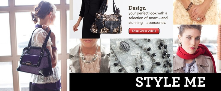 Eliminating the Guesswork  Follow 5 simple steps to create your perfect look. Grace Adele makes it simple to put your style on display.  Pick My Bag Color:   Choose My Bag:   Add My Clutch:   Style My Bag:   Style Me: Elevate your look with signature jewelry and scarves.   Buy, Host or Join! Looking to grow my team NATIONWIDE! 719-495-9848 www.Acscentsorize.graceadele.us