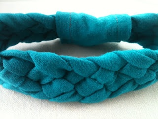 Easy Frugal Living: How to Repurpose Tshirt into 5 strand Headband