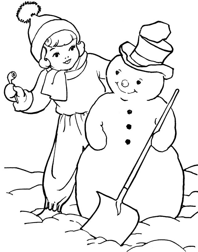 i have download snowman and the little boy coloring page - Boys Coloring Pictures
