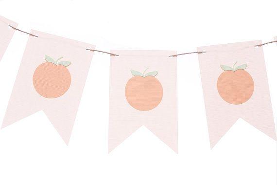 Georgia Peach Flag Banner / Peach Garland