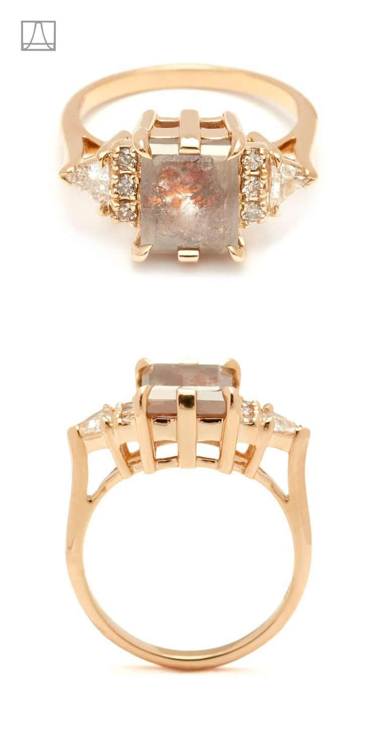 Anna Sheffield Stardust Bea engagement ring. Part of the Atelier Series