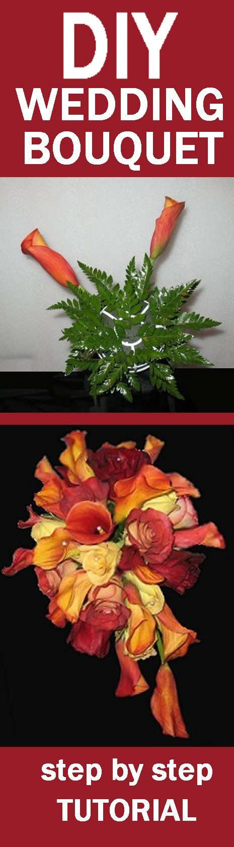 Fall Wedding Bouquet - Free Fresh Flower Tutorials  Learn how to make bridal bouquets, wedding corsages, groom boutonnieres, church decorations and reception centerpieces.