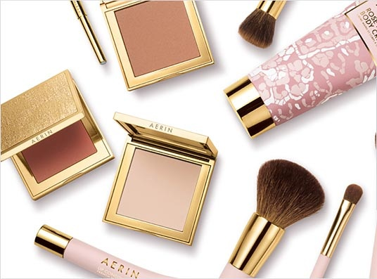 AERIN Beauty - The essentials Sophisticated gold and soft pale pink,