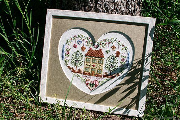"""Sweet home: Petites maisons à broder au point de croix"""", Marie-Anne Rethoret-Melin."""