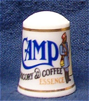 CAMP COFFEE THIMBLE FRANKLIN MINT
