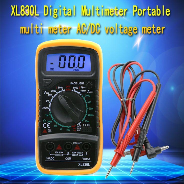 Kualitas tinggi Genggam Jumlah Dengan Pengukuran Suhu LCD Digital Multimeter Tester XL830L Tanpa Baterai