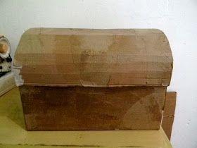 Recicle sua Casa: Baú com caixa de papelão