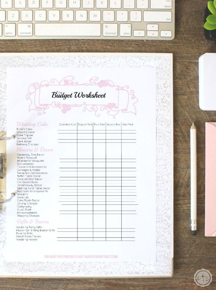 wedding planning checklist spreadsheet free%0A How to Put Together Your Perfect  FREE  Wedding Binder       Free Wedding  Printables