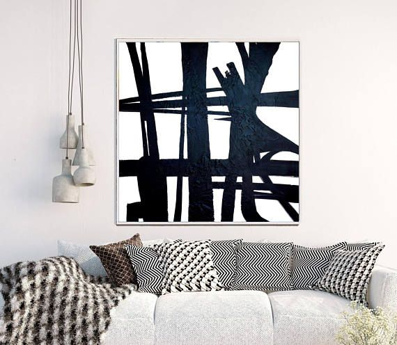 Abstract Painting, Abstract Print, Large Wall Art,  Black and White Abstract Art,  Home Decor, Wall Decor, Instant Download