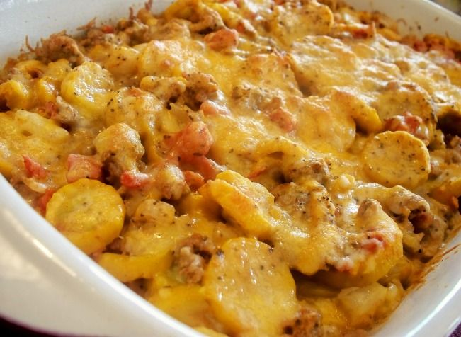 Mexican Squash and Ground Beef Casserole