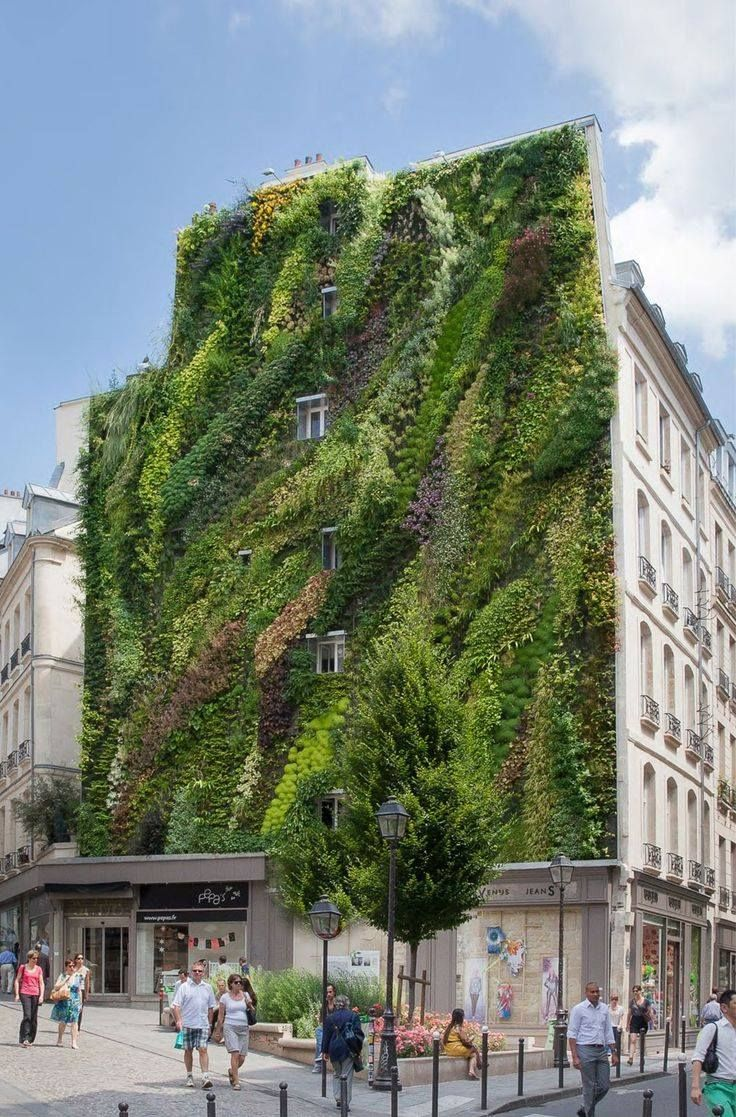 Vertical Gardens - a perfect decorative Background for commercial Squares <3
