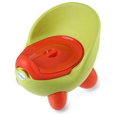Baby Child Cartoon Cute PP Pedestal Pan Nontoxic Training QQ Eggs Toilet Seat  -  GREEN / BLUE / ROSE RED