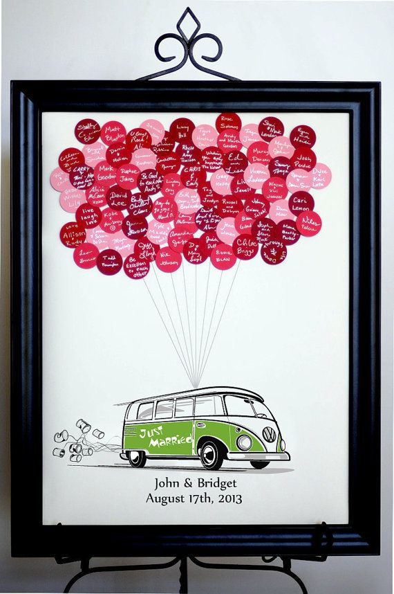 Wedding Guest Book Balloons VW Bus for up to by SayAnythingDesign, $55.00 - Fun guest book idea! Easy DIY too!