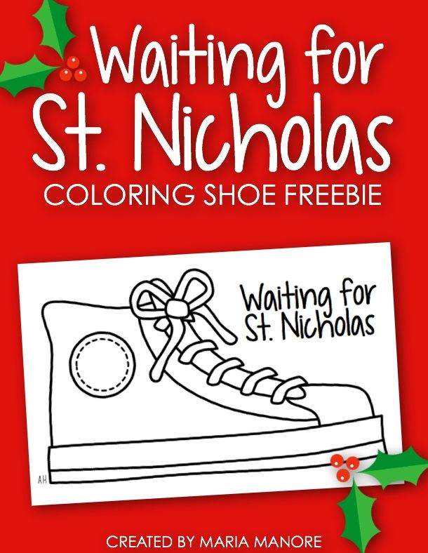 FREE St. Nicholas Day shoe coloring page