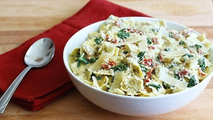 Spinach, artichokes and sun dried tomatoes combine with a creamy ...