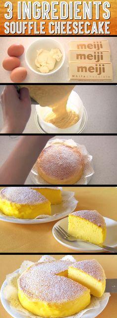 Fluffy Japanese Cheesecake Pound Cake