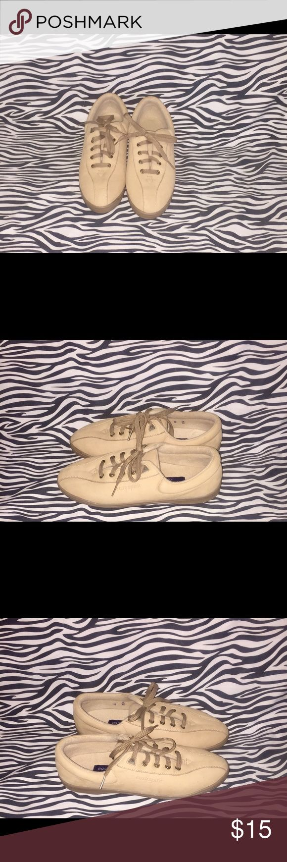 Tan Easy Spirit Anti-Gravity Suede Shoes. Suede with lite signs of wear on shoes and bottoms. Great condition. Easy Spirit Shoes