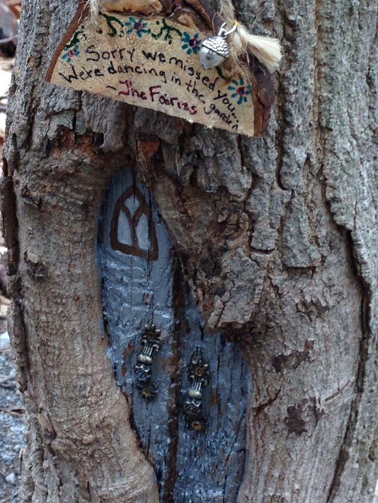 Fairy house fairy door pinterest trees door handles for Fairy doors for trees