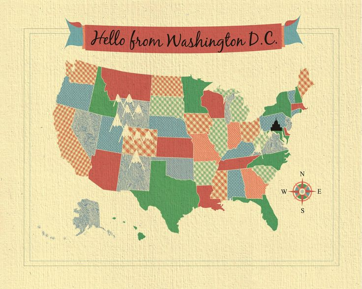 Melhores Ideias De Mapa De Washington DC No Pinterest Mapa - Washington dc usa map