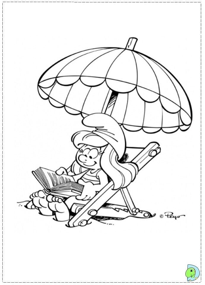 coloring pages of smurfette - photo#29