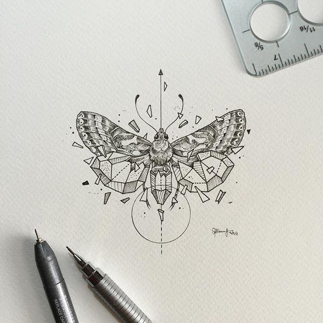 Geometric Beasts | Moth   https://www.instagram.com/kerbyrosanes/