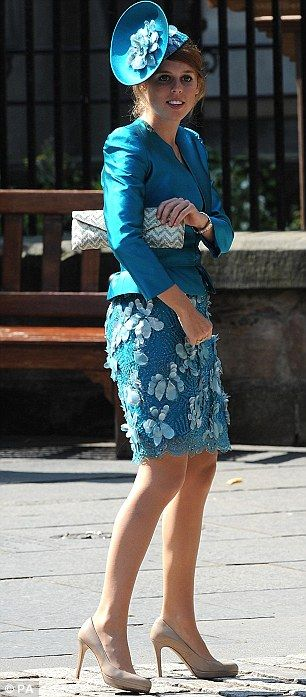 Princess Beatrice looks stunning in blue.