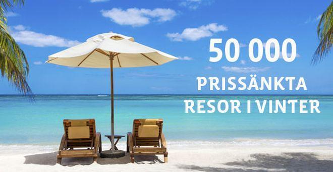 50.000 resor erbjudanden