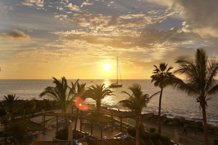 """""""Der Blick aus dem Hotelzimmer"""" aus dem Reiseblog 'Über Weihnachten auf den Kanaren: Urlaub im Dorado Beach auf Gran Canaria'"""