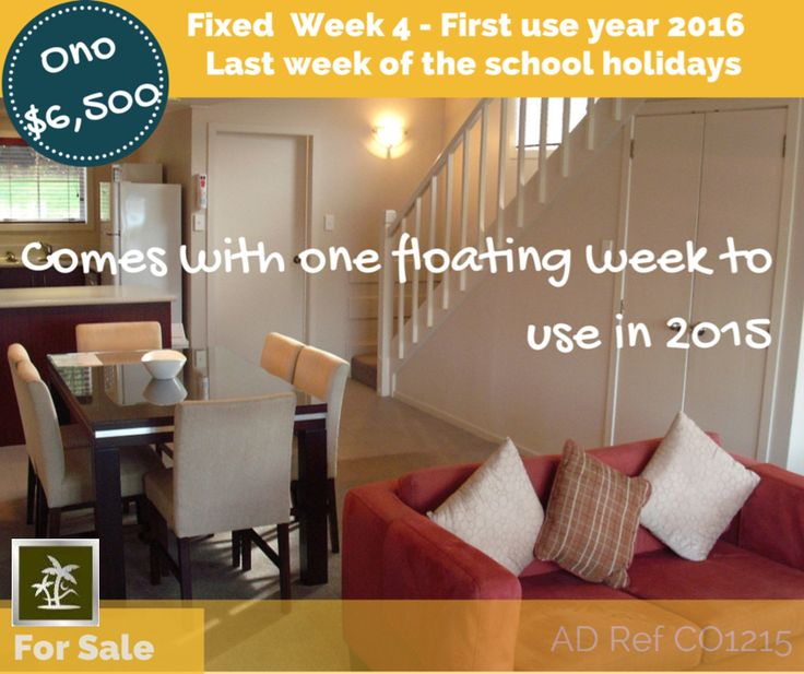 fantastic fixed week 4 with a floating week to use in 2015 or bank and a guaranteed final school summer holiday week; year after, breaking in 2016.  confirmed prebooking 2015 - Other fixed week options available.