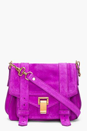 PROENZA SCHOULER //  PS1 Purple Suede Pouch Bag......I love this!.....How did they know purple was my favorite color?