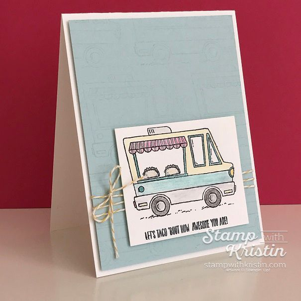 Sneak Peek!!! Sale-a-Bration 2017 Tasty Trucks Stamp Set by Stampin' Up! Get the Stamp Set free during 2017 Sale-a-Bration! Created by Kristin Kortonick.