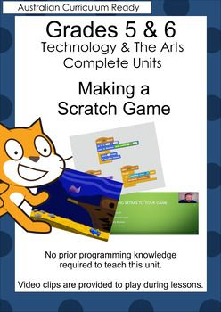 This is a complete grade 5/6 Technology and The Arts set of units in which the students create a Scratch game. It is designed to meet 6 digital technology standards, 2 design technology standards and 4 Arts standards for grades 5 and 6 for the Australian Curriculum. Get it now in my TPT store. Created by The Cool Classroom.