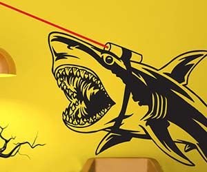 Shark With Frickin Lasers Decal $69.99