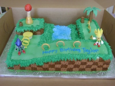 Sonic Cake By dolphin_1031 on CakeCentral.com