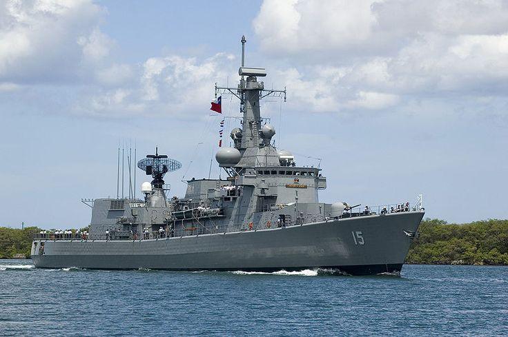 Almirante Blanco Encalada (FFG-15)  La Almirante Blanco Encalada es una de las dos fragatas clase Karel Doorman adquiridas por la Armada de Chile a la Koninklijke Marine