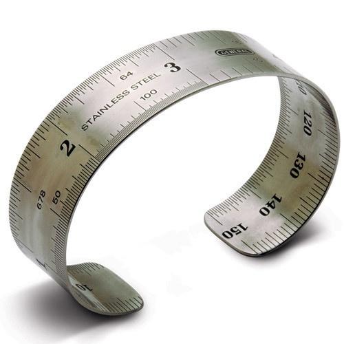 Ruler Bracelet by LeeAnn Herreid: Thanks to @Elizabeth Silbermann ! #Ruler_Bracelet #Elizabeth_Silbermann