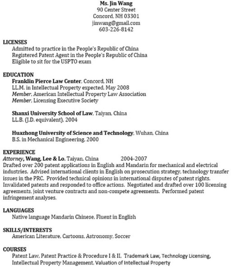 Desktop #Publisher Resume (resumecompanion) Random Pins - intellectual property attorney sample resume