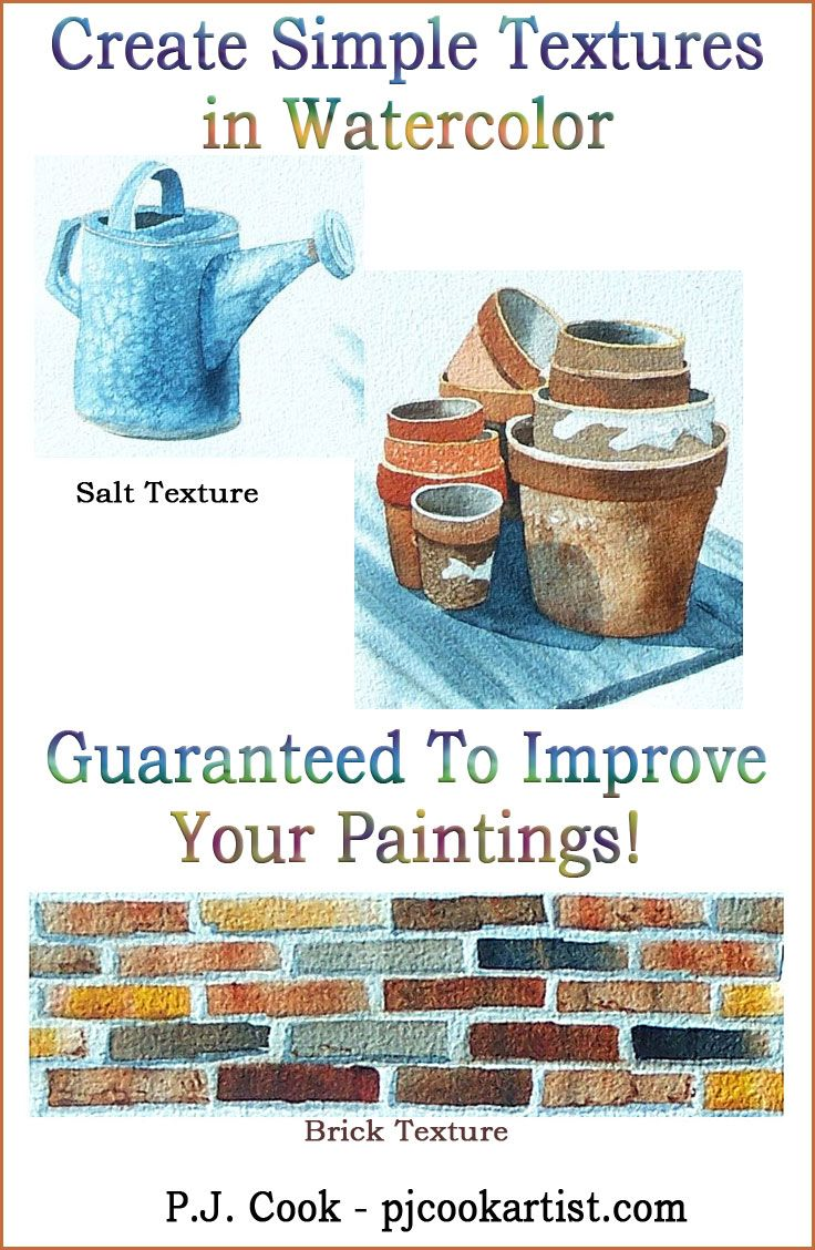 In this watercolor tutorial blog post I demonstrate how creating textures in watercolor will improve your paintings, Guaranteed!