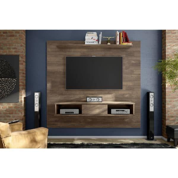 Barcelona Mid-century Two-shelf 70-inch TV Board