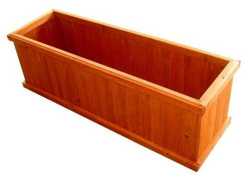 "Gran Robusto 48"" Rectangular Planter Box by Blue Marble Industries. $79.99. Piece O' Cake Design for Easy Assembly. Beautiful heartwood color. Environmentally safe water-based stain for protection. Solid Wood Construction. Cedar components from responsibly managed forests - no old growth wood. The best-selling wood planter in America is now available for shipment directly to your door.  And with our Piece O' Cake Assembly design, in 10 minutes, using only a sc..."